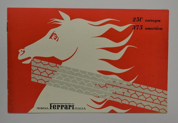 Ferrari 250 Europa 375 America Brochure Front Cover