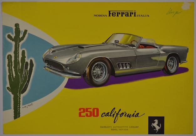 Ferrari 250 California Spyder Brochure Front Cover